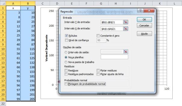 Definindo os parâmetros para cálculos